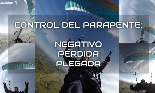 Control del parapente: plegadas, negativo y pérdida.